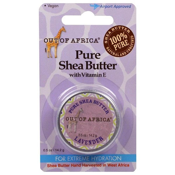 Out of Africa, Pure Shea Butter with Vitamin E, Lavender, 0.5 oz (14.2 g)