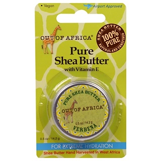 Out of Africa, Pure Shea Butter with Vitamin E, Verbena, 0.5 oz (14.2 g)