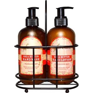 Аут оф Эфрика, Hand Caddy, Hand Wash & Lotion Set, Geranium, 2 Piece Set отзывы