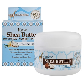 Out of Africa, Pure Shea Butter, Unscented, 4 oz (113 g)