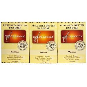 Аут оф Эфрика, Pure Shea Butter Bar Soap, Vanilla, 3 Pack, 4 oz (120 g)  Each отзывы