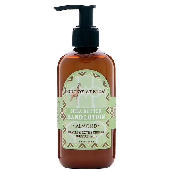 Out of Africa, Shea Butter Hand Lotion, Almond, 8 fl oz (240 ml) (Discontinued Item)