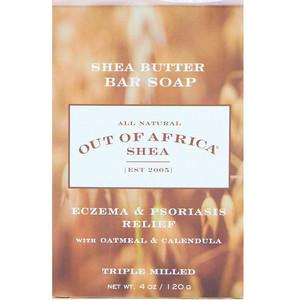 Аут оф Эфрика, Shea Butter Bar Soap, Oatmeal & Calendula, 4 oz (120 g) отзывы покупателей