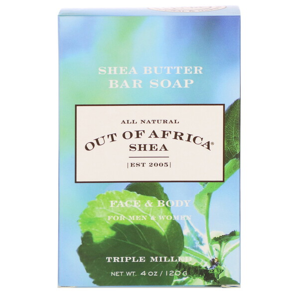 Shea Butter Bar Soap, Face & Body, 4 oz (120 g)