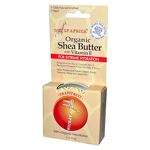 Аут оф Эфрика, 100% Pure and Unrefined Shea Butter with Vitamin E, Grapefruit, 2 oz (56 g) отзывы