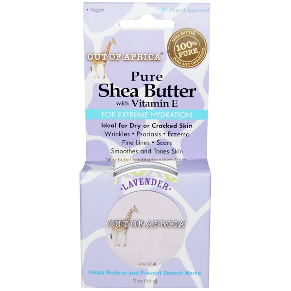 Out of Africa, Pure Shea Butter, with Vitamin E, Lavender, 2 oz (56 g) (Discontinued Item)