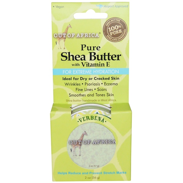 Out of Africa, Pure Shea Butter, with Vitamin E, Verbena, 2 oz (56 g) (Discontinued Item)
