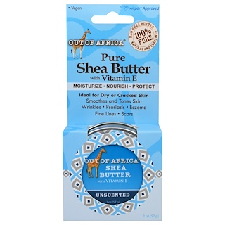 Out of Africa, Pure Shea Butter with Vitamin E, Unscented, 2 oz (57 g)