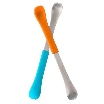 Купить Boon Swap, ложка для кормления 2-в-1, от 4 месяцев, синяя и оранжевая, 2 шт.