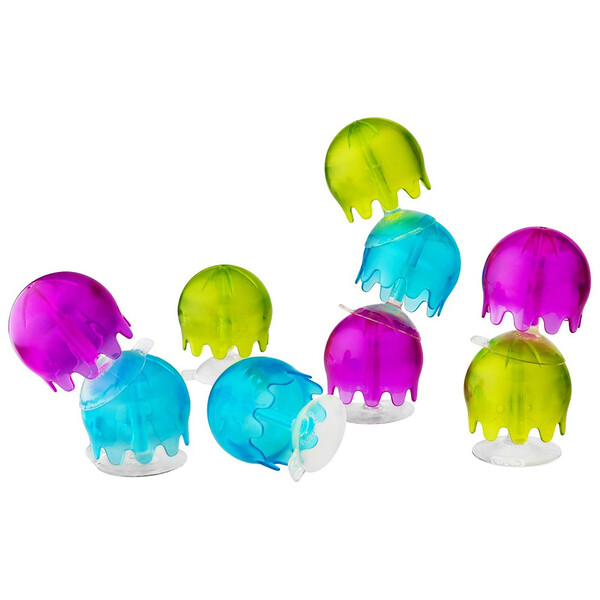 Jellies, Suction Cup Bath Toys, 12+ Months, 9 Suction Cup Bath Toys