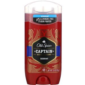 Old Spice, Deodorant, Captain, Bravery & Bergamot, 3 oz (85 g) отзывы покупателей