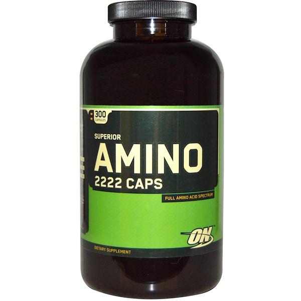 Optimum Nutrition, Superior Amino 2222 Caps, 300 Capsules (Discontinued Item)