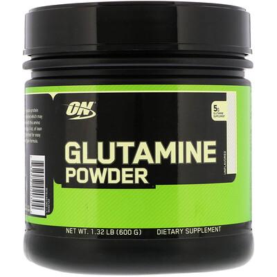 Optimum Nutrition Порошок с глутамином, без вкуса, 1, 32 фунта (600 г)  - купить со скидкой
