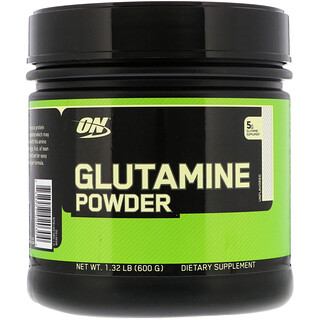 Optimum Nutrition, Glutamine Powder, Unflavored, 1.32 lb (600 g)