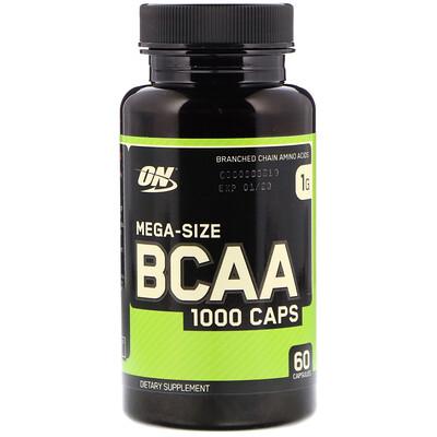 Купить BCAA 1000 Caps, мега-размер, 1 г, 60 капсул