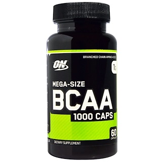 Optimum Nutrition, BCAA 1000 Caps, 메가 사이즈, 1g, 60 캡슐