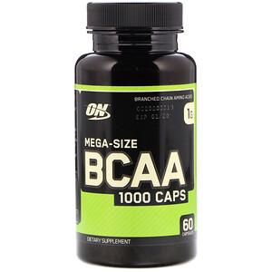 Оптимум Нутришэн, BCAA 1000 Caps, Mega-Size, 1 g, 60 Capsules отзывы покупателей