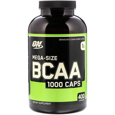 Купить BCAA 1000 Caps, мега упаковка, 1 г, 400 капсул