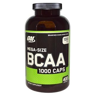 Optimum Nutrition, BCAA 1000 Caps, Mega-Size, 1000 mg, 400 Capsules