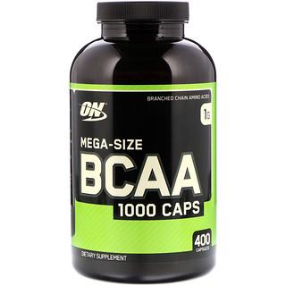 Optimum Nutrition, BCAA 1000 Caps, Mega-Size, 1 g, 400 Capsules
