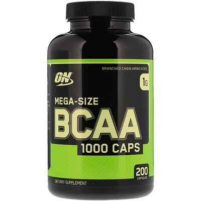 Купить BCAA 1000 Caps, большая упаковка, 1г, 200капсул