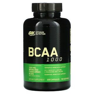 Optimum Nutrition, BCAA 1000, 500 mg, 200 Capsules