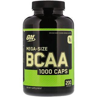 Optimum Nutrition, BCAA 1000 Caps, Mega-Size, 1 g, 200 Capsules