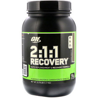 Optimum Nutrition, 2:1:1 Recovery, Colossal Chocolate, 3.73 lb (1.7 kg)