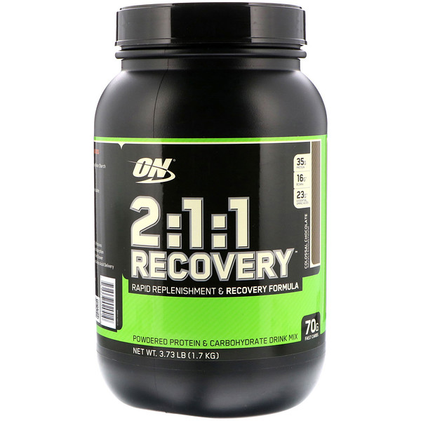 Optimum Nutrition, 2:1:1 Recovery, Colossal Chocolate, 3.73 lb (1.7 kg) (Discontinued Item)