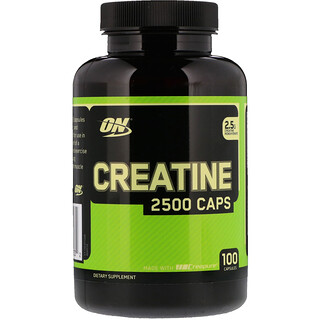Optimum Nutrition, Creatina 2500 Cápsulas, 100 Cápsulas