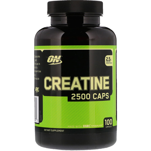 Optimum Nutrition, Creatine 2500 Caps, 2.5 g, 100 Capsules