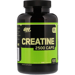 Оптимум Нутришэн, Creatine 2500 Caps, 2.5 g, 100 Capsules отзывы покупателей