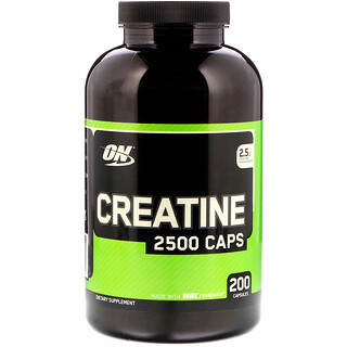 Optimum Nutrition, Creatine 2500 Caps, 200 cápsulas