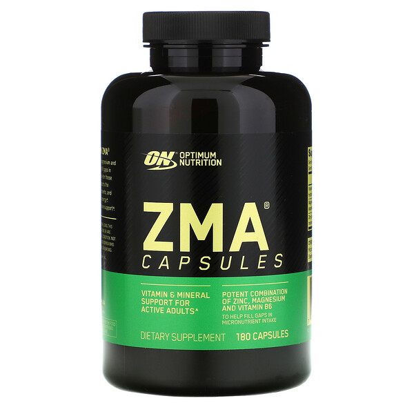 Optimum Nutrition, ZMA‏, 180 כמוסות