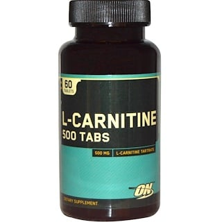 Optimum Nutrition, L-Carnitine 500 Tabs, 500 mg, 60 Tablets
