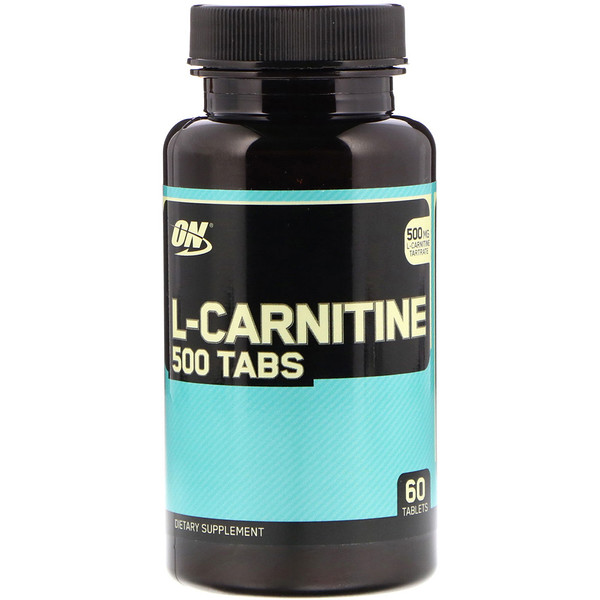 Optimum Nutrition, L-Carnitina 500 Comprimidos, 500 mg, 60 Comprimidos