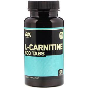 Оптимум Нутришэн, L-Carnitine, 500 mg, 60 Tablets отзывы покупателей