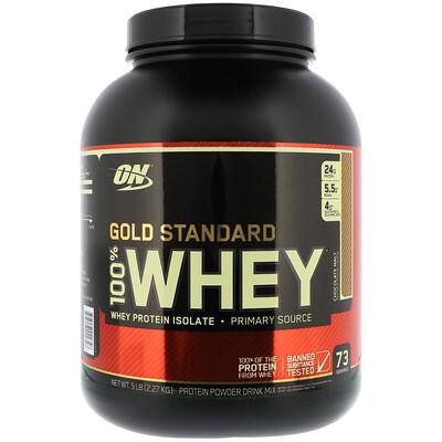 Купить Optimum Nutrition Gold Standard 100% Whey, Chocolate Malt, 5 lbs (2.27 kg)