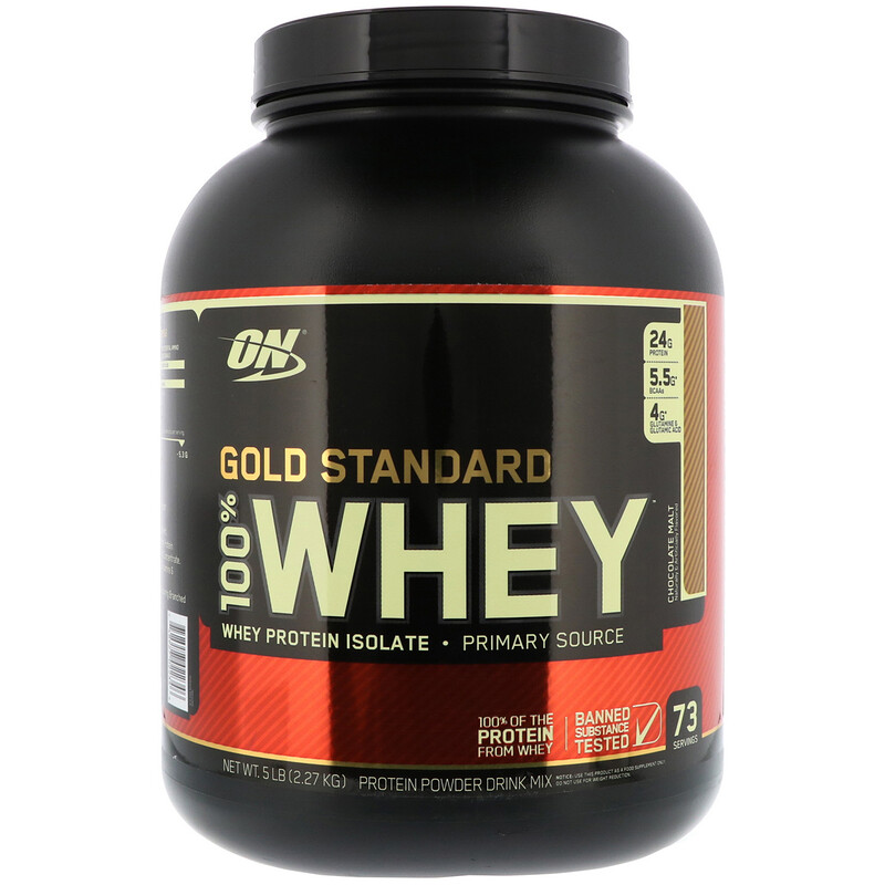 Gold Standard, 100% Whey, Chocolate Malt, 5 lbs (2.27 kg)