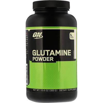 Купить Optimum Nutrition Глутамин в форме порошка, без ароматизаторов, 10, 6 унц. (300 г)