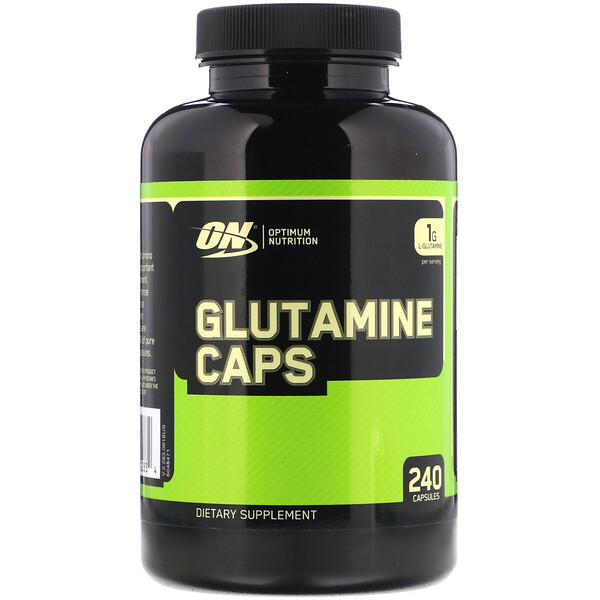 Optimum Nutrition, Glutamina, 1000 mg, 240 cápsulas