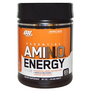 Optimum Nutrition, Essential Amino Energy, Orange Cooler, 1.29 Lbs (585 g)
