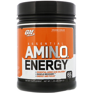 Оптимум Нутришэн, ESSENTIAL AMIN.O. ENERGY, Orange Cooler, 1.29 lbs (585 g) отзывы покупателей