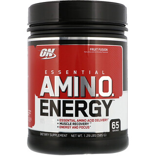 Optimum Nutrition, Essential Amino Energy, Fruit Fusion, 1.29 lbs (585 g)