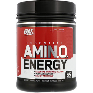 Оптимум Нутришэн, ESSENTIAL AMIN.O. ENERGY, Fruit Fusion, 1.29 lbs (585 g) отзывы покупателей