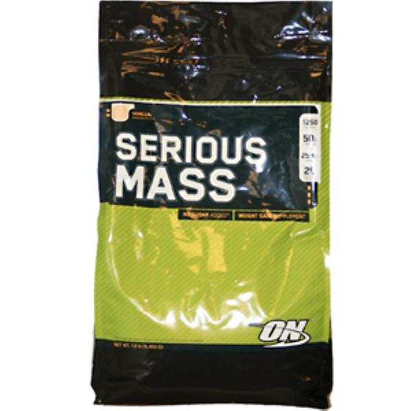 Optimum Nutrition, Serious Mass, Vanilla, 12 lbs (5,455 g) (Discontinued Item)