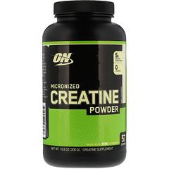 Optimum Nutrition, クレアチンパウダー、微粉化、無香料、5,000 mg、10.5 oz (300 g)