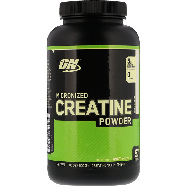 Micronized Creatine Powder, Unflavored, 10.6 oz (300 g)