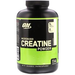 Optimum Nutrition, マイクロナイズド・クレアチンパウダー、無香料、1.32 ポンド (600 g)
