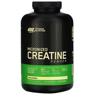 Optimum Nutrition, مسحوق الكرياتين دقيق الجزيئات، غير مُنكه، 1.32 رطل (600 جم)